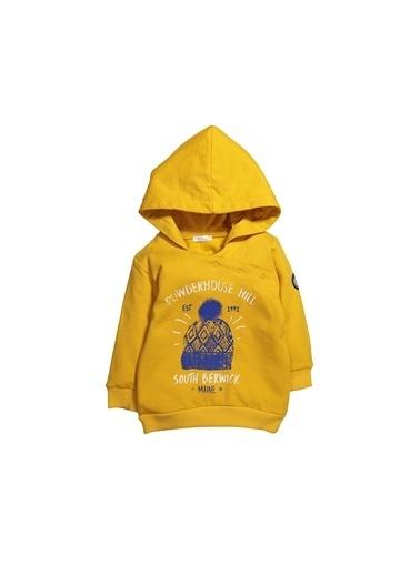 Zeyland Önden Çıtçıtlı Kapüşonlu Sweatshirt (6ay-4yaş) Önden Çıtçıtlı Kapüşonlu Sweatshirt (6ay-4yaş) Sarı